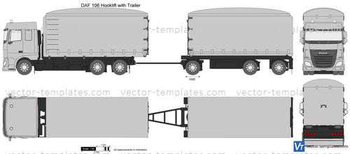 DAF 106 Hooklift with Trailer