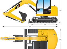 Caterpillar 307E2 Mini Hydraulic Excavator