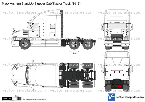 Mack Anthem StandUp Sleeper Cab Tractor Truck