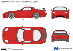 Mazda RX7 Dominic Toretto Fast and Furious