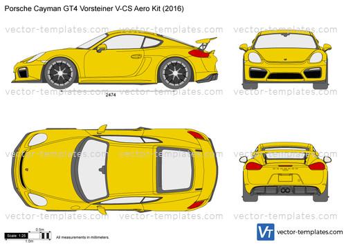 Porsche Cayman GT4 Vorsteiner V-CS Aero Kit