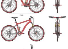 Full Suspension Mountain Bike 26 inch wheels