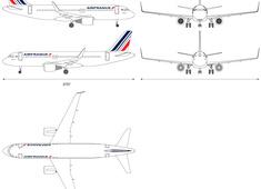 Airbus A320-200 Sharklets Air France