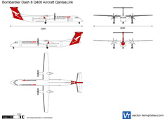 Bombardier Dash 8 Q400 Aircraft QantasLink
