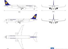 Embraer E190 (ERJ190) Lufthansa Regional
