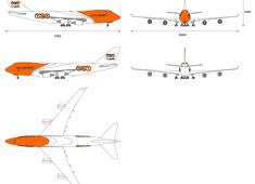 Boeing 747-400F Freighter Cargo TNT Express Airways