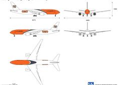 Boeing 777F Cargo Freighter TNT Airways
