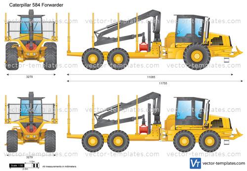 Caterpillar 584 Forwarder