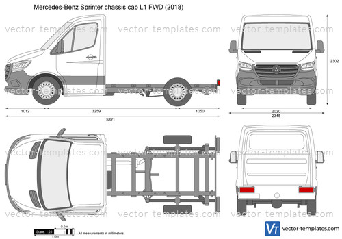 Mercedes-Benz Sprinter chassis cab L1 FWD