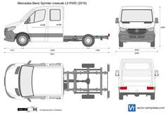 Mercedes-Benz Sprinter crewcab L2 RWD