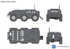 Modern SWAT vehicle