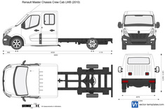 Renault Master Chassis Crew Cab LWB