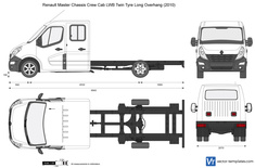 Renault Master Chassis Crew Cab LWB Twin Tyre Long Overhang