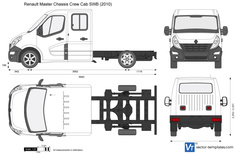 Renault Master Chassis Crew Cab SWB