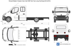 Renault Master Chassis Crew Cab SWB Twin Tyre Long Overhang E20