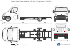 Renault Master Chassis Single Cab LWB Twin Tyre Long Overhang E30