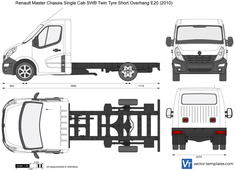 Renault Master Chassis Single Cab SWB Twin Tyre Short Overhang E20