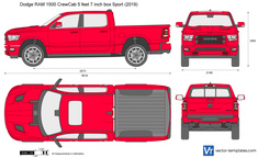 Dodge RAM 1500 CrewCab 5 feet 7 inch box Sport