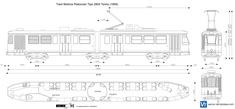 Tram Motrice Ristocolor Tipo 2800 Torino