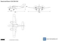 Beechcraft Baron C55 D55 E55