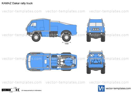 KAMAZ Dakar rally truck