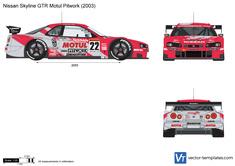 Nissan Skyline GTR Motul Pitwork