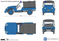 Citroen 2CV Mehari gendarmerie