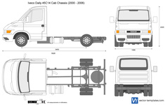 Iveco Daily 45C14 Cab Chassis (2000 - 2006)