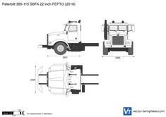 Peterbilt 365-115 SBFA 22 inch FEPTO