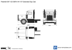 Peterbilt 367-123 SBFA HH 1o inch Extended Day Cab