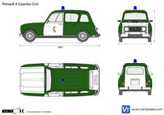 Renault 4 Guardia Civil