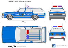 Chevrolet Caprice wagon NYPD Police car