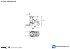 Komatsu AE50 Forklift