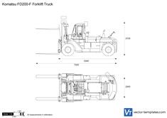 Komatsu FD200-F Forklift Truck
