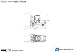 Komatsu FH40 FH50 Diesel Forklift