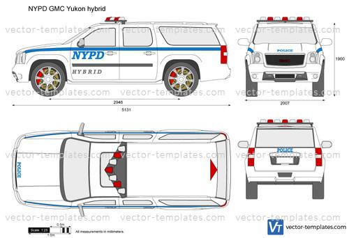 NYPD GMC Yukon hybrid