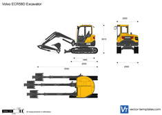 Volvo ECR58D Excavator