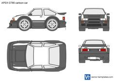 APEX GT85 cartoon car