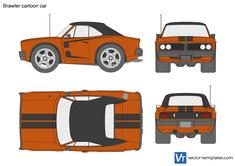 Brawler cartoon car
