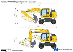 Komatsu PW148-11 Hydraulic Wheeled Excavator