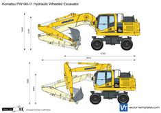 Komatsu PW180-11 Hydraulic Wheeled Excavator
