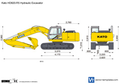 Kato HD820-R5 Hydraulic Excavator