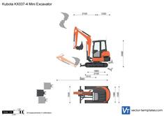 Kubota KX037-4 Mini Excavator
