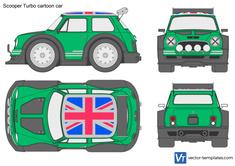 Scooper Turbo cartoon car