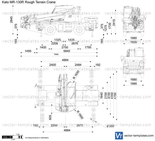 Kato MR-130R Rough Terrain Crane