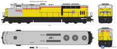 SD70ACe Union Pacific Train