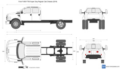 Ford F-650 F750 Super Duty Crew Cab Chassis