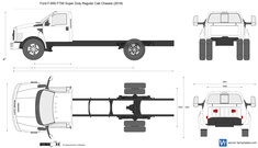 Ford F-650 F750 Super Duty Regular Cab Chassis