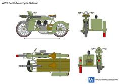 WW1 Zenith Motorcycle Sidecar