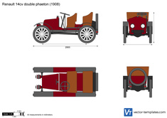 Renault 14cv double phaeton